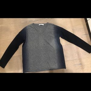 Kokun grey ombré cashmere sweater size xs